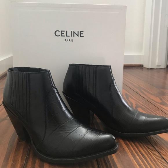 Celine Shoes | Celine Black Ankle Boots
